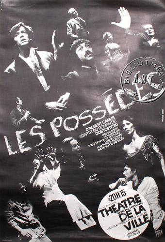 پوستر تئاتر شیاطین که توسط کامو کارگردانی شد