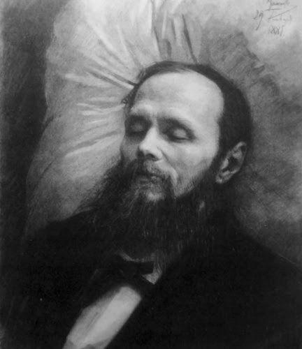 پرتره داستایفسکی در بستر مرگ اثر ایوان کرامسکوی