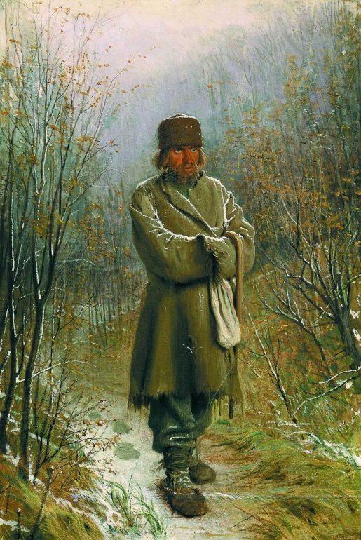 تابلوی مکاشفه اثر ایوان کرامسکوی که داستایفسکی از آن برای وصف اسمردیاکوف استفاده کرده بود.